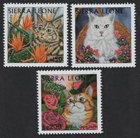 1997Sierra Leone2902-2904Cats - Hauskatzen