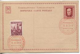 Böhmen Und Mähren Ganzsache Vorläufer CSR P43 Blanko Sonderstempel #1a V. 16.3.39 - Storia Postale
