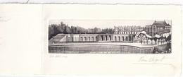 Gravure De Béquet - Château De Versailles  épreuve D'artiste - 213 X 104 Mm - Curiosities: 1960-69 Covers & Documents