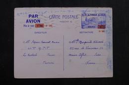 TUNISIE - Entier Postal Surchargé Par Avion De Tunis Pour Maison Alfort En 1942 - L 72798 - Covers & Documents