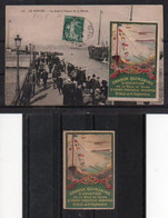 Vignette Grande Quinzaine Aviation Baie De Seine 1910 Sur CPA Le Havre, Et Seule - Aviación