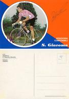 CARTE CYCLISME ROBERTO VISENTINI SIGNEE TEAM SAN GIACOMO  1980 - Radsport