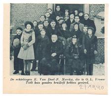 Orig. Knipsel Coupure Tijdschrift Magazine - Tielt - Gouden Bruiloft Echtpaar E. Van Dael X F. Merckx  - 1940 - Unclassified