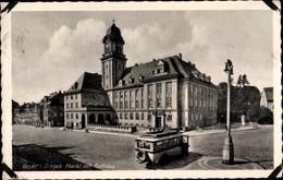 CPA Geyer Im Erzgebirge Sachsen, Straßenpartie Mit Blick Zum Rathaus, Bus - Alemania