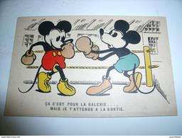 CPA DISNEY MICKEY CA C'EST POUR LA GALERIE.... RARE BELLE CARTE !! - Zonder Classificatie