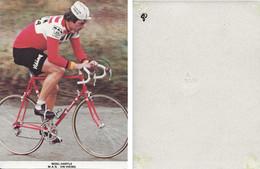 CARTE CYCLISME NIGEL HARTLE TEAM VIKING 1980 ( DECOUPE FORMAT 10,5 X 14, DETERIOREE PARTIE ARRIERE, VOIR PHOTO ) - Radsport