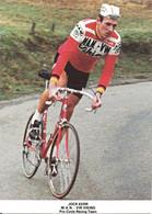 CARTE CYCLISME JOHN KERR TEAM VIKING 1980 ( DECOUPE FORMAT 10,3 X 14,2 DETERIOREE PARTIE ARRIERE, VOIR PHOTO ) - Radsport