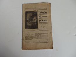 """Petit Livre De 30 P. Sur """"Le Boche Tel Qu'il Est"""" Par Albert Droulers. Tract Du Comité Catholique De Propagande Français - Non Classificati"""