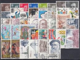 ESPAÑA 1981 Nº 2599/2643 AÑO COMPLETO USADO 40 SELLOS + 2 HB - 1991-00 Usati