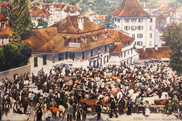 Cartolina - Bern - Viehmarkt - Klosterli - 1920 Ca - Sin Clasificación