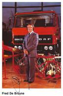 CARTE CYCLISME FRED DE BRUYNE SIGNEE TEAM DAF 1980 - Radsport