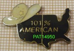 101% AMERICAN AMERICAIN STETSON Sur CARTE Des USA - Associazioni