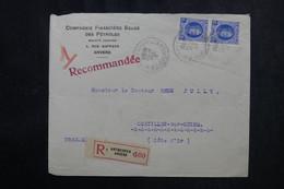 BELGIQUE - Enveloppe Commerciale En Recommandé De Anvers Pour La France En 1930 - L 72841 - Cartas