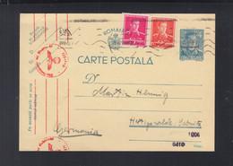 Rumänien Romania GSK 1941 Nach Deutschland Zensur - 1918-1948 Ferdinand, Charles II & Michael