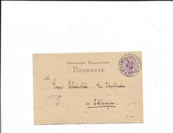 Karte Aus Strassburg Nach Ettlingen 1882 - Covers & Documents