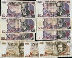 Austria 50 X6 & 20 X3  Schilling  9 Banknotes Of 360 Shillings - Austria