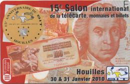 15° Salon Télécarte Monnaie Et Billets à Houilles Janvier 2010 (1000 Ex) - Altre Schede Prepagate