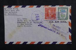 SALVADOR - Enveloppe De San Salvador Pour La France En 1950 Par Avion - L 72858 - El Salvador