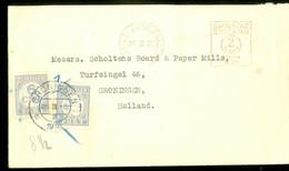 TAXE * MET PORT BELAST * BRIEFOMSLAG Uit 1936 Van BAILE ÁTHA CLIATH * DUBLIN *  IRELAND * Naar GRONINGEN   (11.838J) - 1922-37 Stato Libero D'Irlanda