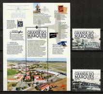Portugal 2020 , 100 Anos Da Aeronatica - Granja Do Marques - Satz + Block - Postfrisch / MNH / (**) - Unused Stamps