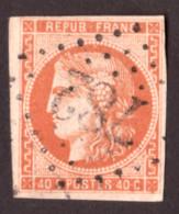 Cérès De Bordeaux N° 48 Orange Foncé - 1er état - Oblitération GC 782 Caumont (Calvados) - 1870 Emission De Bordeaux