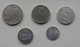 SERIE DI MONETE DEL 1955 DA 1-5-10-50-100 LIRE DELLA REPUBBLICA ITALIANA - - Other