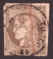 Cérès De Bordeaux N° 47 Brun Clair - Oblitération CàD T17 Toulouse - 1870 Emisión De Bordeaux