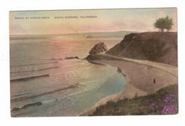 SANTA BARBARA, California, USA, Beach At Castle Rock, Pre-1920 Postcard - Santa Barbara