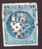 Cérès De Bordeaux N° 46B Bleu Clair - Oblitération GC 1053 Clermont-Ferrand - 1870 Ausgabe Bordeaux