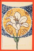 FRI037 IRIS Période ART DECO Sur Fond De Fragments De Timbres Imprimés 1902 Edit BERNHEIM Chaux-de-Fonds - Francobolli (rappresentazioni)