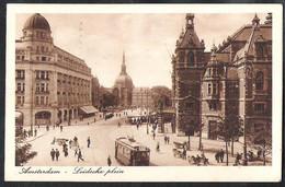 AMSTERDAM Leidscheplein 1919 Met Bestellen Op Zondag Vignet - Amsterdam