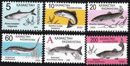 2020Kazakhstan 6vMarine Fauna - Meereswelt