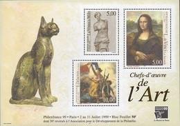 """France N° 3234 à 3236 F ** Ou BF 23 - Philexfrance """"99"""" Vénus De Milo- Joconde- Liberté - Unused Stamps"""