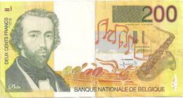 Belgique  200 Francs Sax (non Daté) - 100 Francos