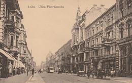 CPA:POLOGNE LODZ ULICA PIOTRKOWSKA ANIMÉE..ÉCRITE - Polonia
