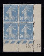 Coin Daté - YV 237 N** Semeuse Du 26.9.29 - ....-1929