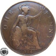 LaZooRo: Great Britain 1 Penny 1916 VF - 1902-1971 : Monete Post-Vittoriane