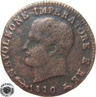 LaZooRo: Italy Napoleon 1 Centesimo 1810 V F - Cisalpin Republic / Italian Republic