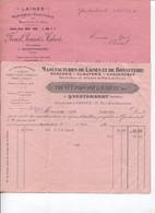 Facture - FABRIQUE De LAINES Bonneterie Mercerie - Ets FRENET PROVOST & HABERT - QUESTEMBERT - 1931/32 - Textilos & Vestidos