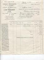 Facture - Manufacture TISSAGE Mécanique ... - Ets J-M. CHOLEAU - VITRE - 1932 - Textile & Clothing