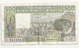 Sénégal 500 Francs 1988 K - Senegal