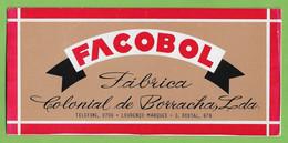 Lourenço Marques Mata-Borrão Blotter Buvard Advertising Publicidade Fábrica Colonial De Borracha Moçambique Portugal - Sonstige
