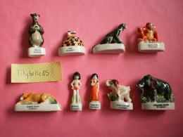 Série Complète De 9 Feves En Porcelaine - LE LIVRE DE LA JUNGLE 1996 ( Feve Miniature Figurine ) - Disney