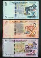 BOLIVIA SET 10 20 50 BOLIVIANOS BANKNOTES (2018) UNC - Bolivia