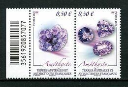 TAAF 2020  N° 919/920 ** Neufs MNH Superbes Minéraux Améthiste Géologie Minérals - Ungebraucht