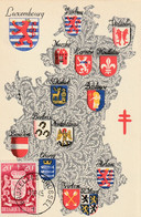 Carte Maximum - Ecusson Province Luxembourg   Timbre 20 C + 20 C - 1934-1951