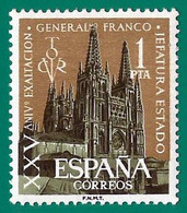 España. Spain. 1961. XXV Años Exaltacion Gerenal Franco A La Jefatura Del Estado - 1961-70 Ungebraucht