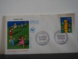 FDC Europa 2000 - Colonne D'étoiles - Premier Jour, Strasbourg (09/05/2000) - 2000-2009