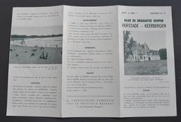 Dépliant Touristique - Brabantse Kempen - Hofstade-Keerbergen-Diegem-Steenokkerzeel-Perk-Eppegem,... Vers 1950 - Tourism Brochures