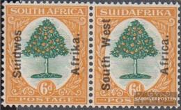 Namibia - Southwest 93-94 Horizontal Couple With Hinge 1927 Print Edition - Africa Del Sud-Ovest (1923-1990)